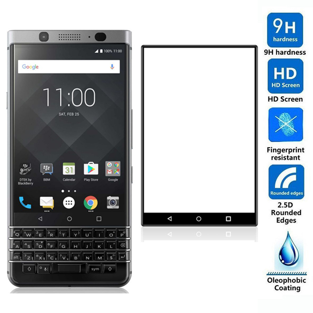 ShuiCaoRen For Blackberry Keyone Tempered Glass 9H 3D Full Screen Cover Explosion-proof Screen Protector Film For KEYone(China)