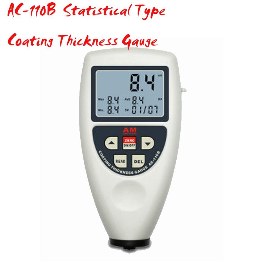 AC 110B Coating Thickness Gauge ,Measuring Range 0~1250 um Statistical Type Coating Thickness Gauge free shipping