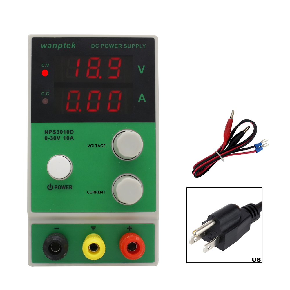 wanptek Mini Adjustable Digital Display 30V/60V 5A/10A DC Power Supply Switching Power Supply 1200w wanptek kps3040d high precision adjustable display dc power supply 0 30v 0 40a high power switching power supply