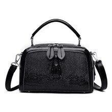 2019 New Women Genuine Leather Handbags Luxury Brand Bags Crocodile Pattern Crossbody for Shoulder Bag