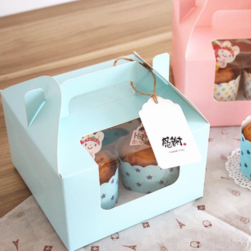 10 komada Plavo / roze 4 šalice kolača s donjim - Za blagdane i zabave - Foto 4