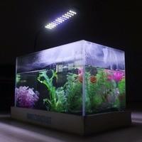 3W Button Control Aquarium 3 Mode Flexible Tank Lamp 48 LED Blue and White(US Power Plug)