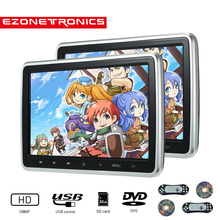 Video-Player Monitor Dvd Lcd-Screen Car-Headrest Touch 2PCS Button-Game Mp4-Stereo Remote-Control