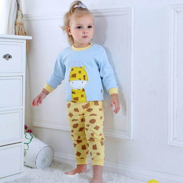 Children's Clothing Set 2018 New Children Suit Autumn winter Tracksuit boy baby clothes giraffe design Long sleeve+pants 2Pcs