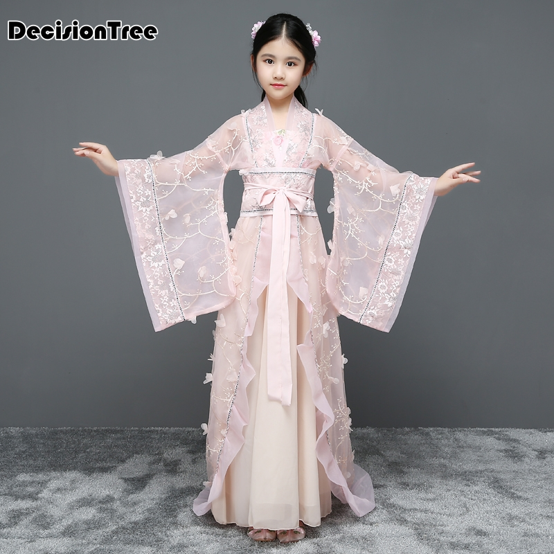941b874af Detail Feedback Questions about 2019 new Girls chinese princess costume  traditional dance costumes kids Floral Lace folk ancient hanfu tang dynasty  dresses ...