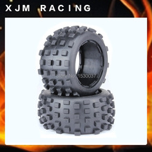 1/5 Scale RC KM RV HPI  Baja 5B Buggy Knobby Rear Wheels &Tires (2)  ,free shipping