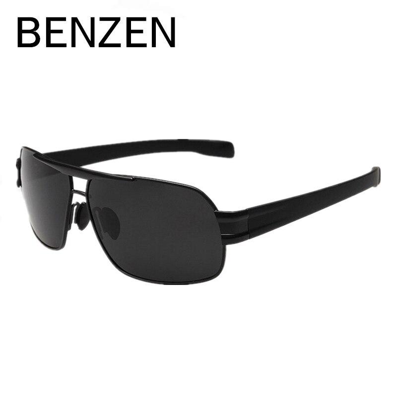 BENZEN Uomini Occhiali Da Sole Polarizzati Maschio in Lega di Occhiali da Sole di Guida Occhiali Da Pesca Occhiali Oculos De Sol Masculino Con Il Caso 9034