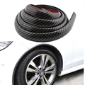 2pcs Wheel Lip Fender Flares Carbon Fiber Look Car Mud Guard wheel Lip Decoration Wheel Eyebrow Protector Lip for Lada Opel