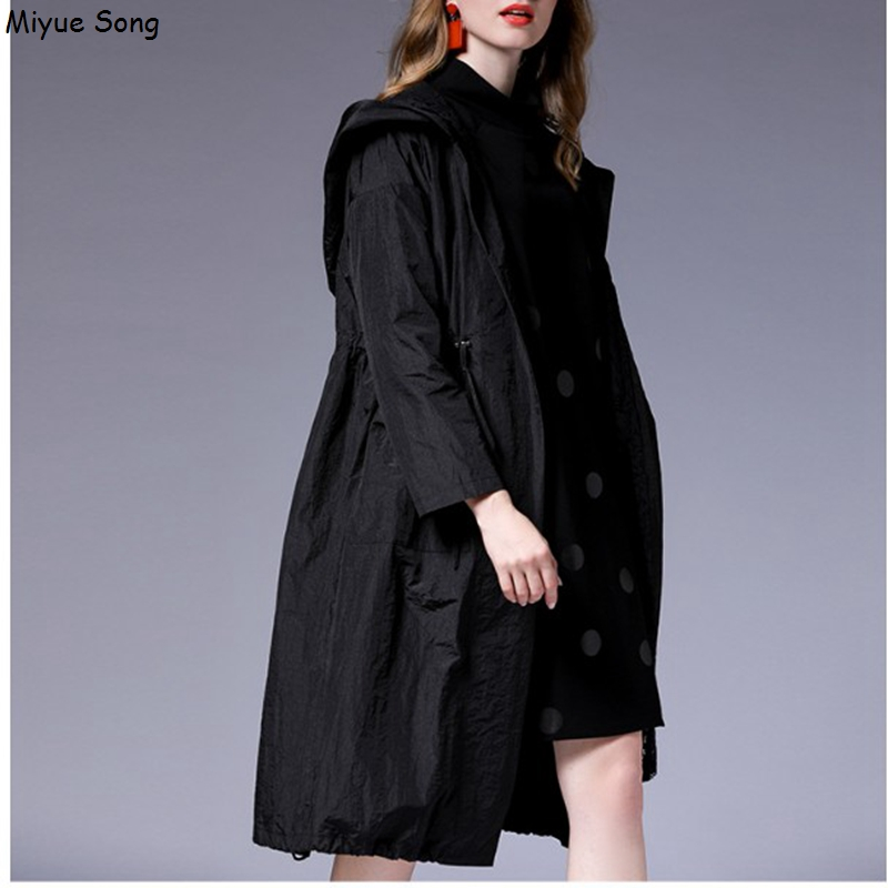Maternity Coats New Fashion Lace Hooded Loose Casual Long Type Jacket For Pregnant Women Drawstring Waist Pregnancy Coat