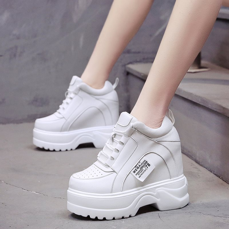 12cm Hight Increase Women Fashion Sneakers Mesh Breathable Elevator Casual Walking Shoes Woman Ladies Trainers Chaussure Femme