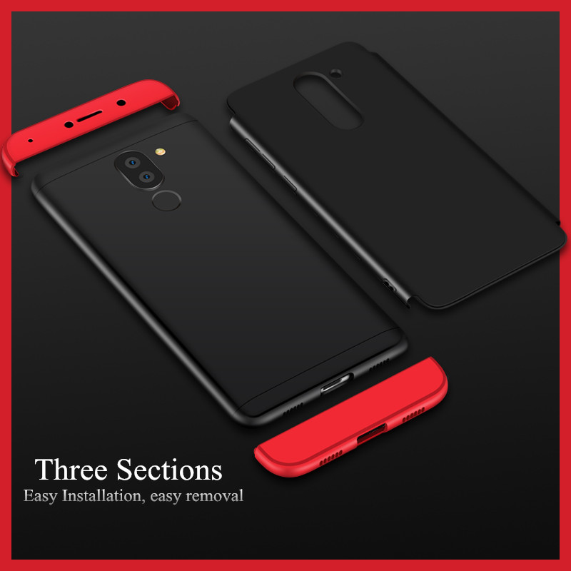 Toraise For Huawei GR5 2017 Case Luxury Frosted Hard PC 360 Full Protection Cover Phone Case for Huawei Honor 6X Mate 9 Lite