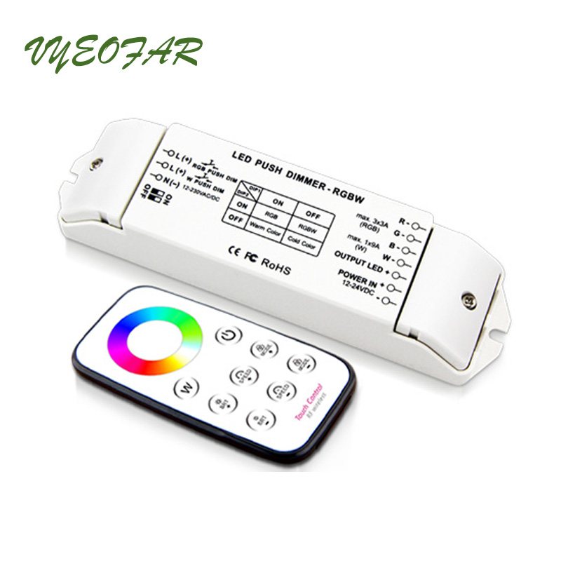 New Led RGB RGBW Strip Controller DC12V 3A*3CH 9A*1CH Output multi function Led 4096 light level, RGBW LED Controller BC-420 led rgbw amplifier dc12v 24v 24a 4 channel 4ch 3ch output rgbw led strip power repeater controller for rgbw rgb led tpae ribbon