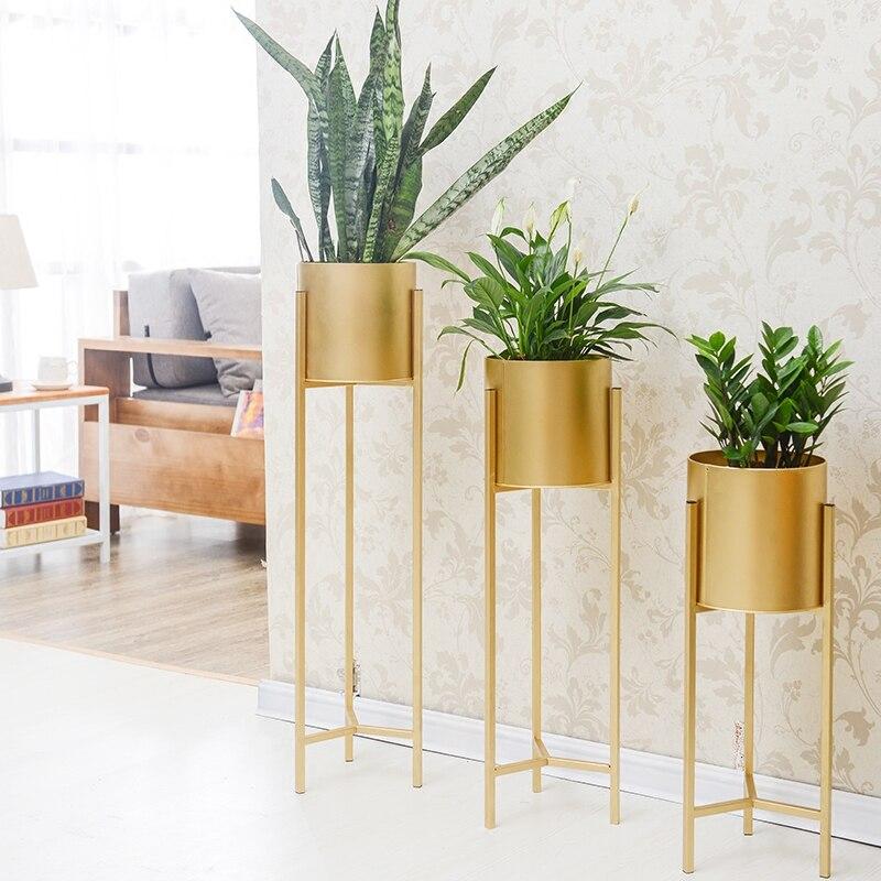 Gold Iron Rack Holder Flower Vase