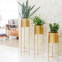 Золотая железная стойка держатель Цветочная ваза сочные травы горшок металлическая подставка кашпо