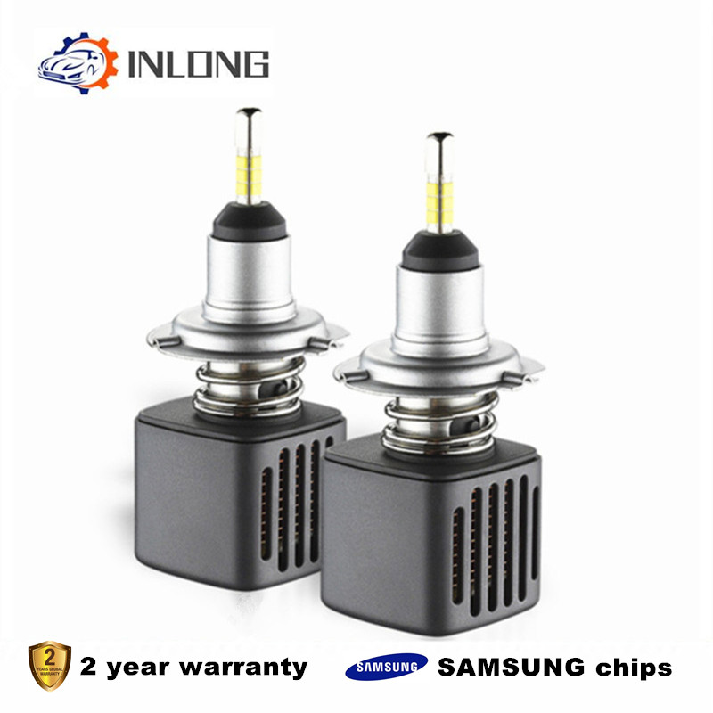 With SAMSUNG Chips H4 H7 LED Headlight Bulbs H11 H1 9005 9006 D1S D2S 10000LM 6500K Car Led Auto  Headlamp Headlights Fog Lights