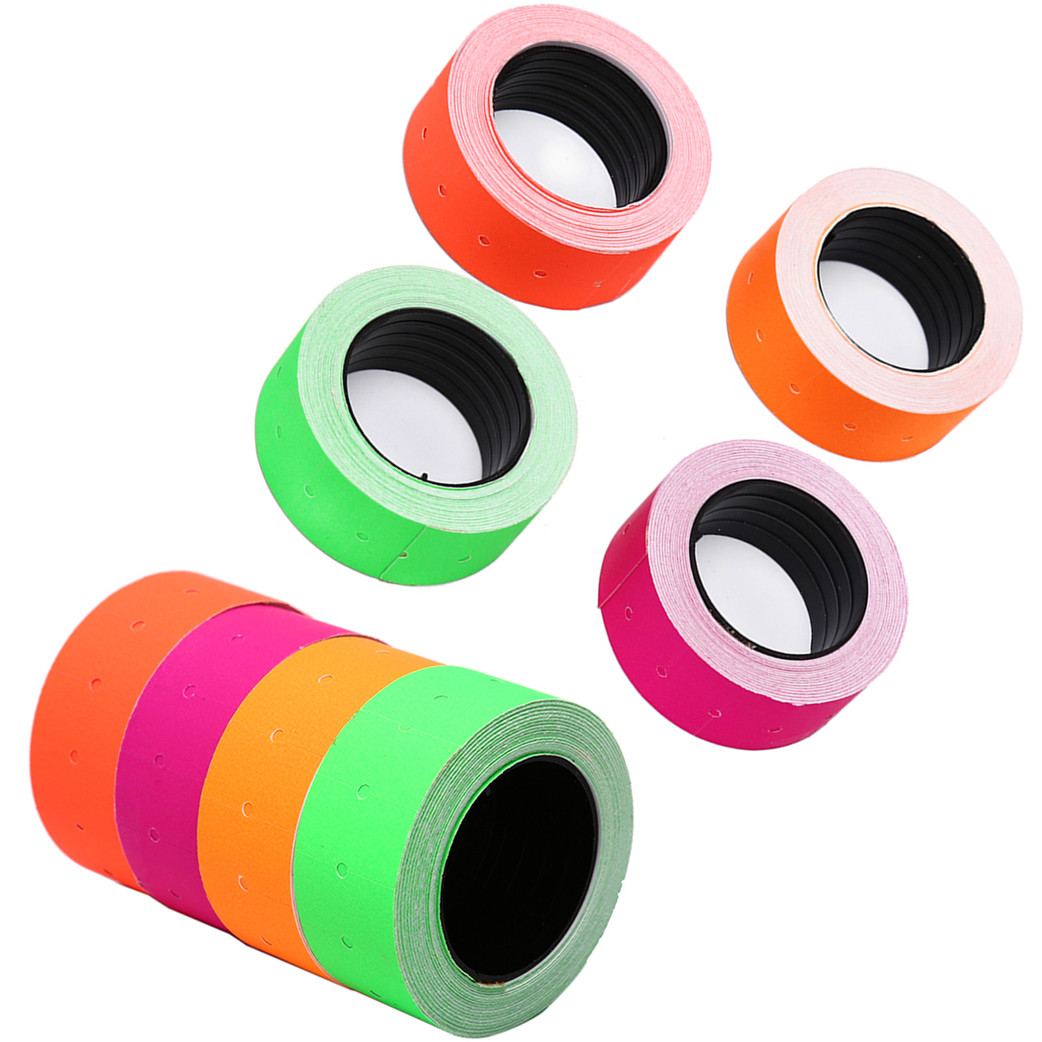 1Roll/500Pcs Colorful Paper Adhesive Price Tag For MX-5500 Price Tag Gun Sticker Jewelry Price Tag Label Mark