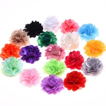Yundfly 10PCS Chic Mesh Tulle Flower for DIY Baby Hair Accessories Handmade Artifical