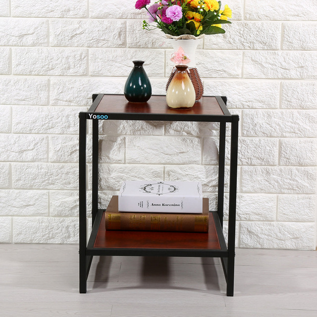 Modern Mesa Coffee Table Tea Side Sofa End Tables with Bottom Shelf For Living Room Table Basse Furniture