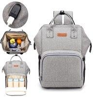 Diaper Bag USB Interface Nappy Bag Baby Care Bag for Stroller Enlarge Waterproof Mom Maternity Travel Backpack Designer Handbag
