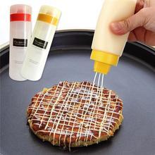 Squeeze saláta dressing jar ketchup szósz palackok szivárgásmentes olajozó tüskés 300ml 4 Hole itchen Kiegészítők Főzés eszközök