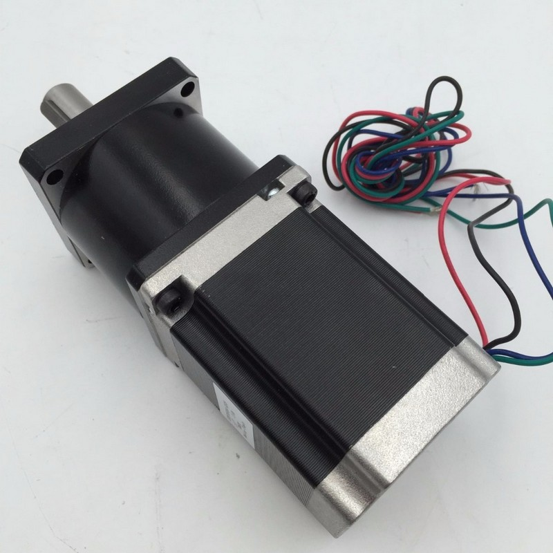 NEMA23 Ratio 10:1   Stepper Motor 3NM 430Oz-in Length 112mm 4.2A 4 Wires with Planetary Gearbox Reducer Motor Kits  for CNCNEMA23 Ratio 10:1   Stepper Motor 3NM 430Oz-in Length 112mm 4.2A 4 Wires with Planetary Gearbox Reducer Motor Kits  for CNC