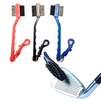 цена на Golf Club Cleaning Brush Groove Cleaner Tool Multifunctional 2 Sides Brass Wires Nylon brush free shipping