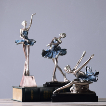European retro ballet dancing girl ornaments home decoration crafts graduation gift living room creative character furnishings