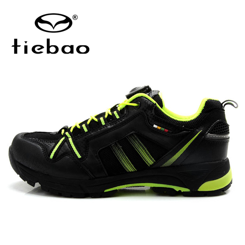 ФОТО TIEBAO Professional Leisure MTB Road Bike Shoes Men Women Cycling Bicycle Shoes Rubber Soles Self-locking Sports Shoes