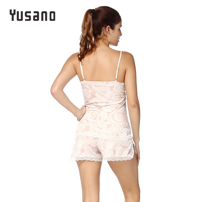 Women 39 s Pajamas Sets Short Sleep Sets Cotton Women Clothes Lace Strap Cami Top Short Pants Pijama V Neck Pyjamas Nightwear XXL in Pajama Sets from Underwear amp Sleepwears