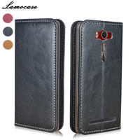 Lamocase Luxury Genuine Leather For ASUS Zenfone 2 Laser ZE550KL Case Flip Book ZE500KL ZE550KL ZE551ML Zenfone 3 Neo ZE520KL