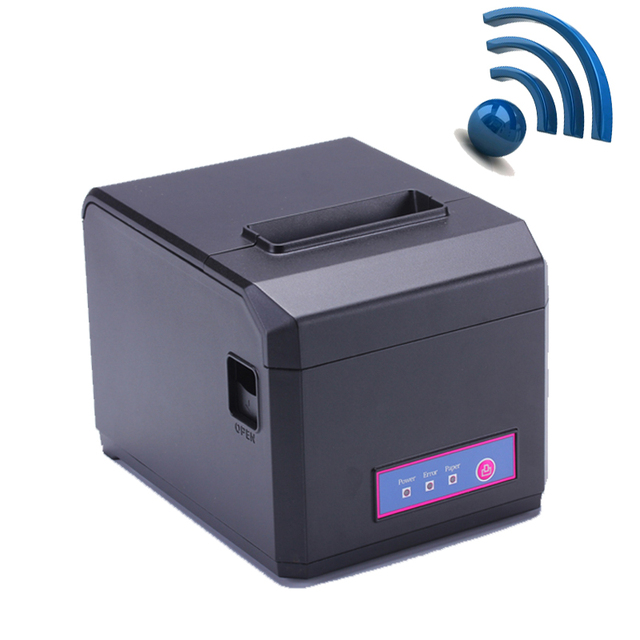 Высокое Качество Wi-Fi и LAN POS 80 мм Тепловая чековый принтер с автоматический резак и 300 мм/сек. печати поддержка 58 и 80 мм бумаги HS-E81ULW