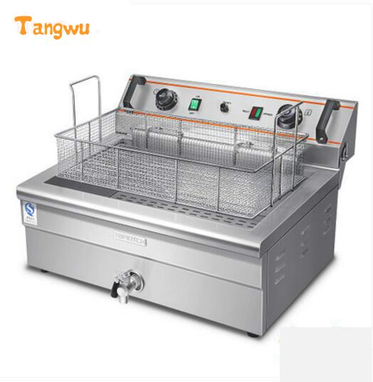 Free shipping thickening time temperature control single-cylinder 20 l blast furnace large Electric Deep Fryers  цены