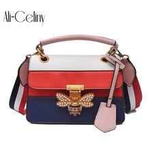 Роскошная сумка через плечо, Женская красочная комбинированная маленькая пчелка, сумки GG, дизайнерские сумки, женские сумки через плечо, сумка-мессенджер, женская сумка