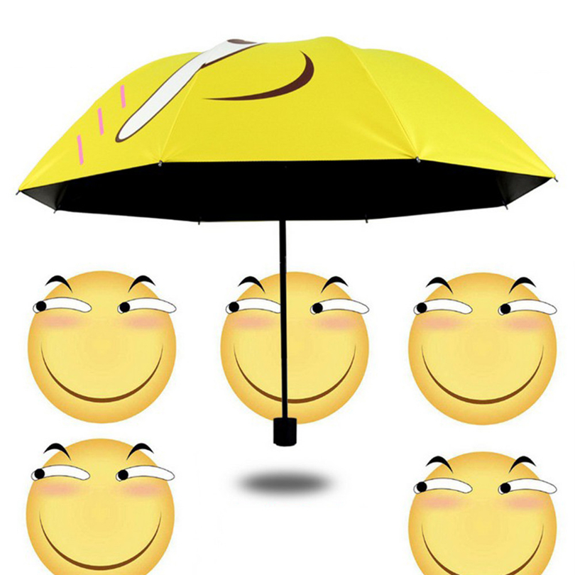 2019 New Cute Funny Umbrella Folding Rain Windproof Umbrella Folding Anti-UV Sun/Rain Umbrella Rain And  Sun Umbrella Heby35