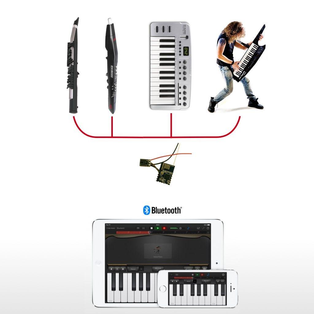 Sans fil Adaptateur MIDI pour Robkoo Module Bluetooth Gratuit Câble Batterie Électrique Sarbacane Clavier Synthétiseur