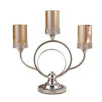 Кристалл стекло Подставка для свечи Свадебная аксессуары для дома современный дизайн люстра подсвечник Mariage лампа в марокканском стиле 5Z92