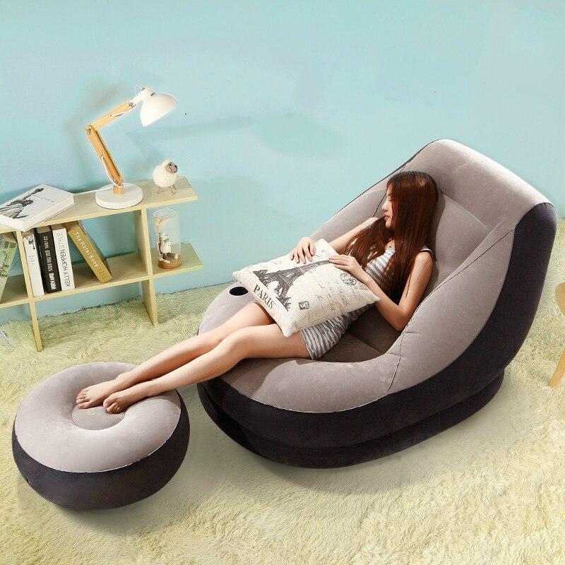 Vente chaude Loisirs créatifs chambre unique personne pouf gonflable balcon sieste lit pliant paresseux canapé chaise