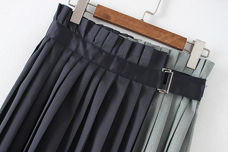 Envío Faldas Truffles Plisado Falda Calle Moda Gratis En Alta Stock Azul Patchwork Miyake Real rqzrw1