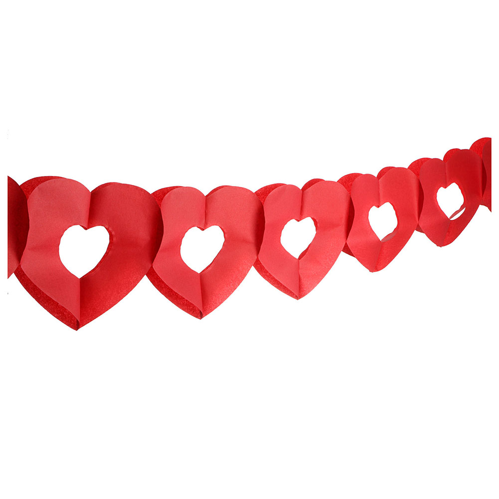 HOT SALE baby shower wedding christening birthday party hanging paper garland decorationgs(Heart-shaped)