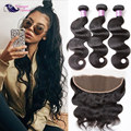 Body Wave Virgin Hair With Frontal Closure Brazilian Body Wave Hair With Frontal Human Hair Weave With Frontal