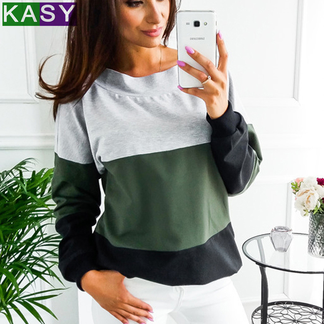679666e1 2019 Spring Contrast Color Long Sleeve Cute Loose Novelty T-shirts 80s  Oversized Patchwork Lace Up Streetwear Top Tees XL tshirt