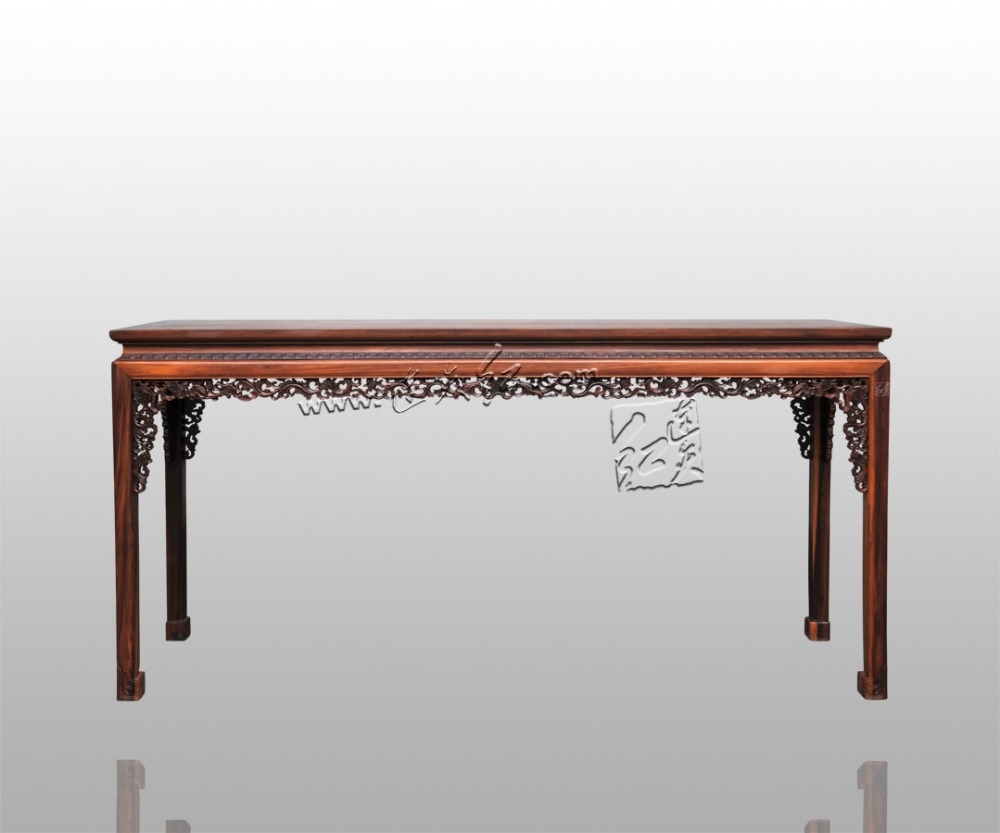 The western scroll grass pattern console table burmase redwood the western scroll grass pattern console table burmase redwood rectangle long desk classical furniature painting elevated desk in console tables from geotapseo Images