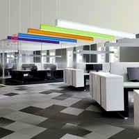LED en aluminium moderne bureau suspendus lumières colorées pendentif lampe bibliothèque travail boutique centre commercial exposition conférence éclairage dynastie