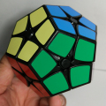 Shengshou 2x2 Megaminx Black/white On Stock Speed Cube Cubo Magico Educational Toy Magic Cube Puzzle