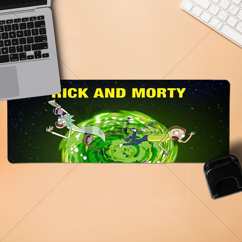 Yinuoda Rick and Morty Season High Speed New Mousepad Size for 30x90cm and  40x90cm Gaming Mousepads