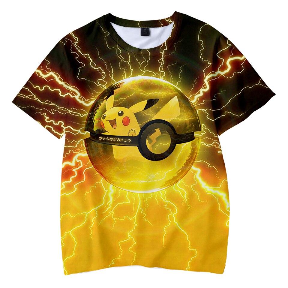 Kawaii 3D Pokemon Print Childrens Harajuku T-shirts  kids Casual Clothes 2018 Hot Sale Short Sleeve TShirt  Kpop Hip Hop
