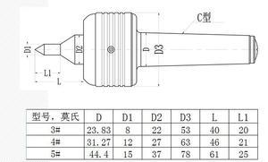 Image 4 - דיוק לחיות מרכז MT2 MT3 MT4 MT5 קוטר לחיות מרכז למכונת מחרטה מסתובבת מרכז מחרטה מפנה מחרטה