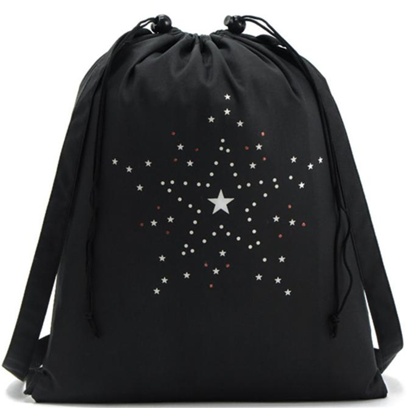 Lecopike Women Men Drawstring Bags Canvas Backpacks For Teenagers School Shoulder Bag Travel Storage Pouch Sport String Bag A20