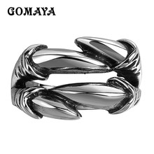 GOMAYA Rings for Men and Women 316L Stainless Steel Punk Rock s Biker  Vintage Gothic Jewelry Dragon Claw Ring