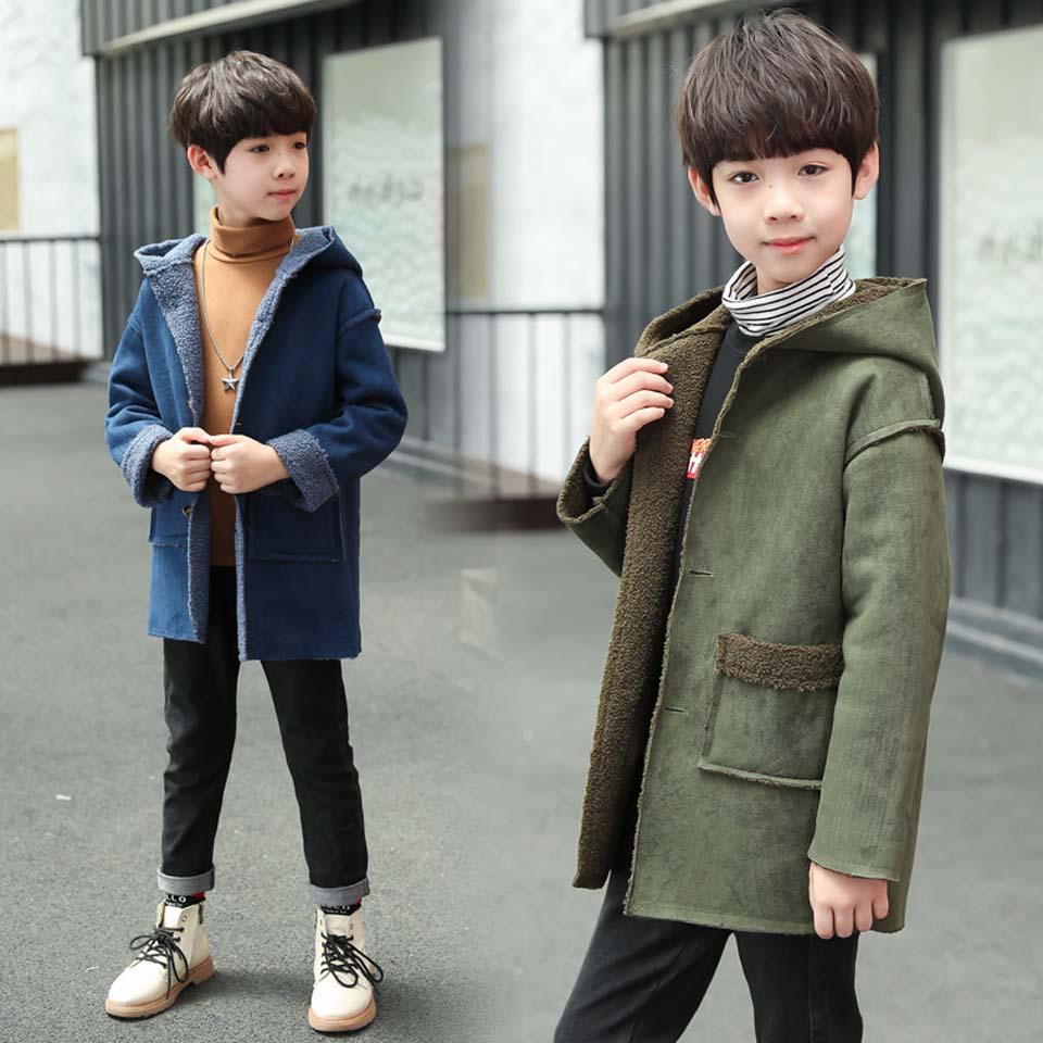 Куртка для маленьких мальчиков 2018 г., осенне зимняя куртка для мальчиков, Детская куртка детская теплая верхняя одежда с капюшоном, пальто для мальчиков, одежда От 4 до 12 лет